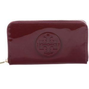 NWT TORY BURCH Stacked Patent Zip Around WALLET